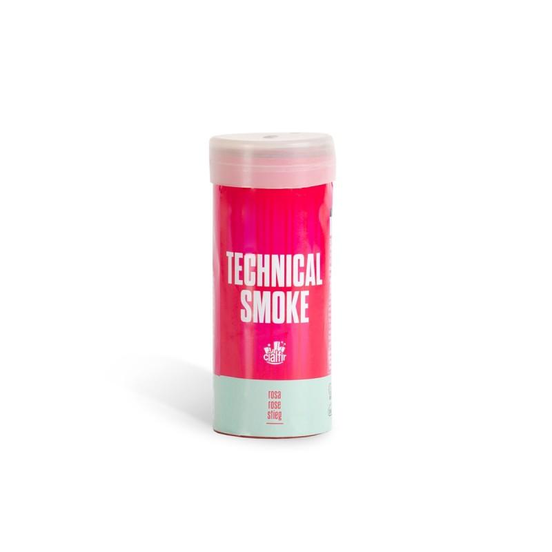humo tecnico rosa